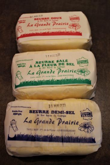 Beurre artisanal (doux, salé ou 1/2 sel)